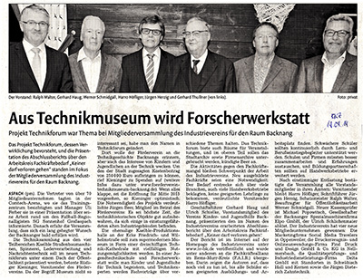 Backnanger Kreiszeitung 14. April 2014